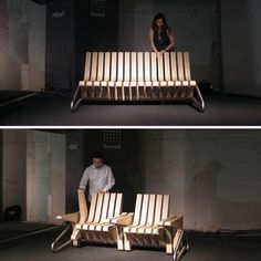 BRILLIANT!  SEE MORE:http://www.innerdesign.com/blog/products/COFFEE-BENCH