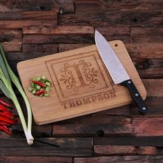 Traditional Filigree Monogram Bamboo Cutting Board Cheese Cutting Board, Diy Cutting Board, Custom Cutting Boards, Engraved Cutting Board, Personalized Cutting Board, Bamboo Cutting Board, Customized Gifts, Personalized Gifts, Custom Gifts