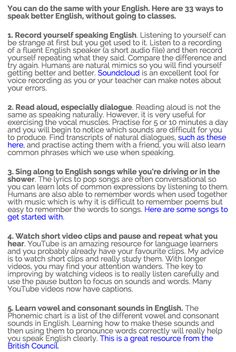 Tips for non-native English speakers