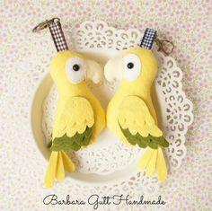 Barbara Handmade...: Złote papużki / Gold parrots
