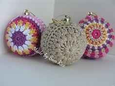 SALE 3 Crochet Christmas Baubles