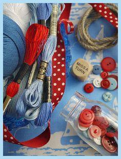 red blue white #nautical