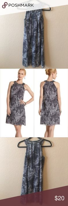 WHBM Gray Jeweled Animal Print Party Dress This White House Black Market  Dress is a fun 8d5094522