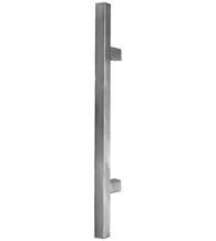 """These 3 foot stainless steel door handles feature an easy to grip 1-3/16"""" square pull handle that is very comfortable. Warm satin finish. $345.60"""