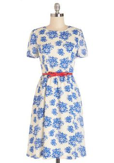 Give It Floral You Dot Dress. Youre never one to shy away from giving your best effort, whether its devoting an extra hour of research to ensure your presentation pops or making a stylish statement each day with pieces like this cream dress by Myrtlewood! #multi #modcloth