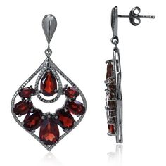 12.02ct. Natural Garnet 925 Sterling Silver Drop Dangle Earrings Silvershake http://www.amazon.com/dp/B00967QX9A/ref=cm_sw_r_pi_dp_-Awlwb04DCJVT