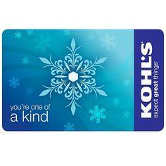 Kohl's Gift Card :: Any Value. :)