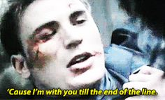 """'Cause I'm with you till the end of the line"""" Steve and Bucky (2) Tumblr"""