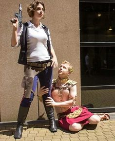 Gender bent Han and Leia