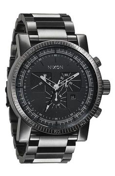 Nixon 'The Magnacon' Bracelet Watch available at Nordstrom Amazing Watches, Cool Watches, Rolex Watches, Wrist Watches, Mens Watches Online, Hand Watch, Casual Watches, Patek Philippe, Luxury Watches For Men