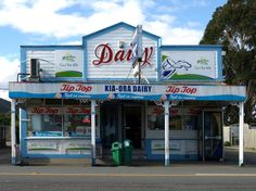 iconic kiwi dairy/store - Featherston, North Island, New Zealand New Zealand Houses, New Zealand Art, New Zealand Travel, New Zealand Holidays, Long White Cloud, Nz Art, Kiwiana, All Things New, The Beautiful Country