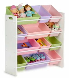 Honey-Can-Do SRT-01603 Kids Toy Organizer and Storage Bins, White/Pastel by Honey-Can-Do. $50.72. Made of thick plastic. Surfaces are durable and stain resistant. Helps develop organization skills. Removable containers make for quick clean up. Rounded safety corners. From the Manufacturer                Honey-Can-Do SRT-01603 Kids Toy Organizer and Storage Bins, White/Pastel helps with tinker toys to craft supplies, this wood frame organizer has 12 plastic bins of varying ...