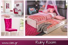 37727412a63 Ένα υπέροχο παιδικό δωμάτιο για κορίτσια από την σειρά Ruby ένα παιχνίδι  χρωμάτων. www.