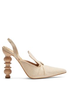 Rasin sculptured-heel slingback pumps | Rosie Assoulin | MATCHESFASHION.COM UK