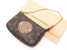 Louis Vuitton Auth Monogram T and B Mini Pochette Accessoires POUCH Cosmetic Bag #LouisVuitton #CosmeticBags