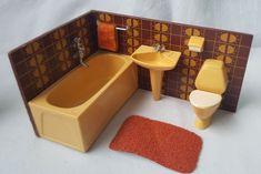 Lundby Lisa Badezimmer für Puppenhaus oder Puppenstube