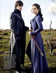 Lily James - sam Riley - Lizzie Bennet - Elizabeth Bennet - Mr. Darcy - Fitzwilliam Darcy - Pride and Prejudice and Zombies - Empire scaS