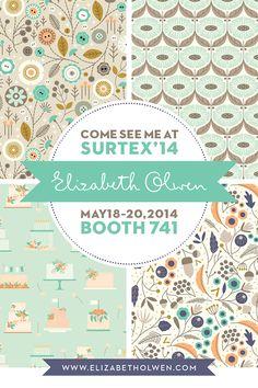 Elizabeth Olwen | Surtex 2014 flyer | Make it in Design