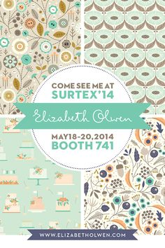 Elizabeth Olwen | Surtex 2014 flyer | Make it in Design