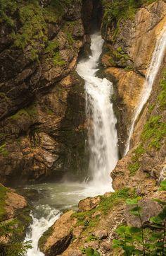 Waterfall Near Hallstatt In The Austrian Alps is a photograph by Stefan Rotter. Source fineartamerica.com