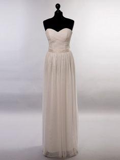 Langes, elegantes Standesamtkleid Modell Lavanija aus weichem Tüll und Taft.