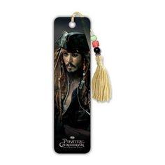 (2x6) Pirates of the Caribbean: On Stranger Tides Movie Jack Sparrow Johnny Depp Beaded Bookmark