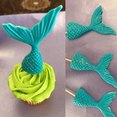 NEW look for our fondant Mermaid tails !! Available in any color