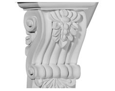 4 1/8in.W x 3in.D x 5 3/4in.H Leandros Fluted Leaf Corbel