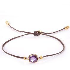 Tai Purple Gemstone Woven Bracelet ($70) ❤ liked on Polyvore featuring jewelry, bracelets, purple jewelry, gemstone bracelet, charm bangle, charm jewelry et gemstone jewelry