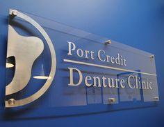Port Credit Denture Clinic Reception Wall Sign - www.signsden.com | Flickr - Photo Sharing!