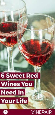 Check out our guide to six of the best types of sweet red wines you can drink. See the best six sweet red wines now! Board: Champagne and Wine Sweet Wine List, Red Wine List, Sweet White Wine, Red Wine Drinks, Wine Mixed Drinks, Wine Coolers Drinks, Best Wine To Drink, Best Red Wine, Best Wine Sweet