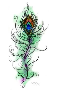 This peacock Feather drawing, is so incredible.... I would LOVE THIS AS A TATTOO!!!!