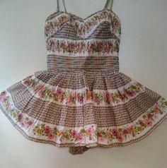 1950's Alix of Miami Floral Swimsuit