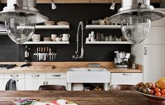 Image result for black wall in the kitchen
