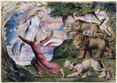 """Dante Running from the Three Beasts"" by William Blake."
