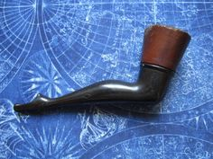 Risque Bakelite Ladies Woman Leg Smoking Tobacco Pipe France. These were quite common in the 19th Century ... the era of Steampunk