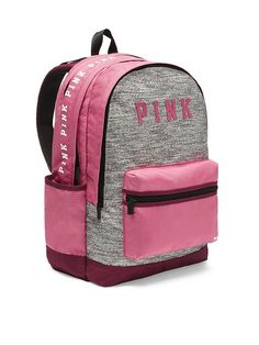 online shopping for Victoria's Secret PINK Campus Backpack Pink Marl from top store. See new offer for Victoria's Secret PINK Campus Backpack Pink Marl Mochila Victoria Secret, Cute Backpacks For School, Mini Mochila, Grey Backpacks, Backpack For Teens, Pink Crossbody Bag, Backpack Purse, Mini Backpack, Cute Bags