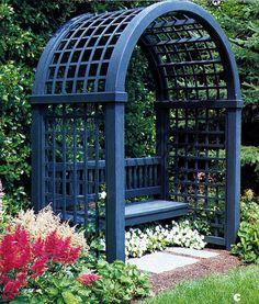 Secret garden arbor