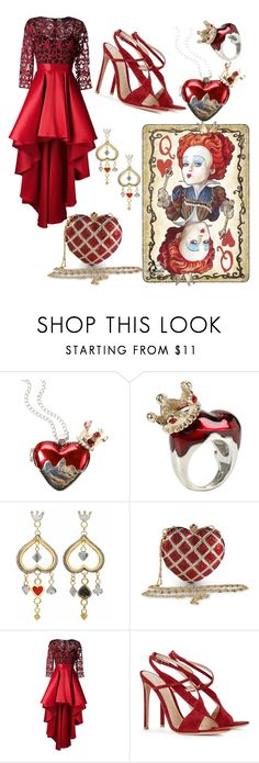 """""""Disney #14"""" by life-turmoil ❤ liked on Polyvore featuring Disney, Sophie Harley London, Moschino, Christian Pellizzari and Gianvito Rossi"""