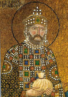 Emperor Constantine Monomachos, rose to the throne by marriage to Empress Zoe. Istanbul: Mosaics from the Hagia Sophia