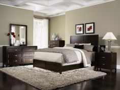 Merveilleux Really Nice Bedroom Idea!!! Has The Green And Dark Furniture Too!