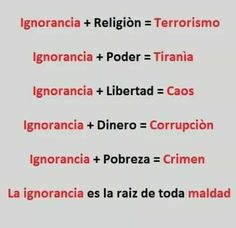Image result for religión + ignorancia = terrorismo