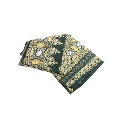 This beautiful piece is intricately embroidered with bold floral and s. Woven Cotton, Cotton Fabric, Goth Home, Scroll Design, Amber Glass, Mantle, Weaving, Embroidery, Floral