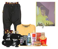 """""""Good Morning Everyone"""" by obey-957 ❤ liked on Polyvore featuring HUF, Balmain, Michael Kors and adidas"""