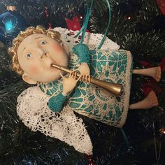 Ангел. Может быть не только новогодней игрушкой) _______________________________ #ручнаяработа #рукоделие #ручноймир #сувениры #merrychrisrmas #christmas #angel #style #story #folowme