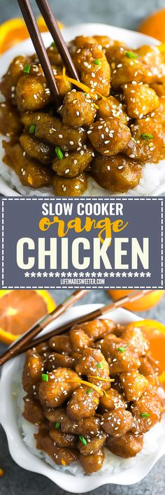 Slow Cooker Orange Chicken makes the perfect easy weeknight meal. Best of all, it's so simple to whip up and way better than your local restaurant takeout!