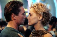 Michael Douglas and Sharon Stone dancing in scene from the film 'Basic Instinct', 90s Movies, Good Movies, Sharon Stone Movies, Basic Instinct Movie, Sharon Stone Hairstyles, Jamie Dornan, Charlotte Gainsbourg, Romantic Movies, Fifty Shades Of Grey