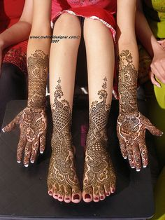 In India, brides traditionally wear henna on their wedding day...with the…