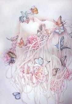 Art Anime Fille, Anime Art Girl, Inspiration Art, Art Inspo, Art Papillon, Images D'art, L'art Du Portrait, Art Du Croquis, Art Mignon