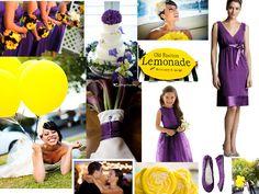 Wedding Color Combinations | Wedding color trends: Violet & lemon yellow